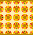 cute sweet colorful donut seamless pattern dessert vector image