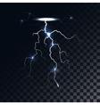 lightning light effect vector image