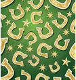 saint patricks day background with golden stars vector image