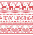 Scandinavian merry christmas sign inspired by nor vector image