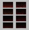 abstract circle pattern mosaic card background vector image vector image