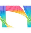 abstract colorful striped elements on white vector image