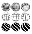 Abstract dotted sphere vector image vector image