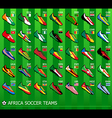 African soccer teams vector image vector image