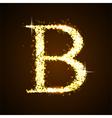 Alphabets B of gold glittering stars vector image vector image