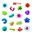 bacteria cells germs and viruses microorganisms vector image