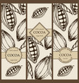 banner set wit hand drawn cocoa vertical vector image vector image