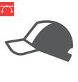 baseball cap glyph icon
