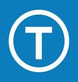 basic font letter t icon design vector image vector image