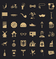 bike icons set simple style vector image