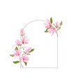 boho magnolia flower watercolor template floral vector image vector image