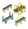 bridge isometric city expressway roadway cabling vector image vector image