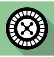 Casino roulette wheel flat icon vector image vector image