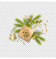 christmas festive ornament vector image