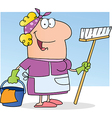 Cleaning Lady vector image