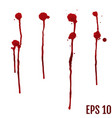 collection various blood or paint vector image