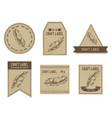 craft labels vintage design vector image