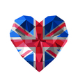 crystal gem jewelry British heart with The flag of vector image vector image