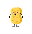 cute cartoon yellow sponge character vector image