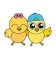 cute chick easter vector image vector image