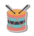 Drum kit toy icon vector image vector image