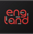 england t-shirt and apparel design vector image