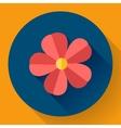 Frangipani flower icon Nature symbol vector image vector image