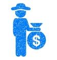Gentleman Investor Grainy Texture Icon vector image vector image