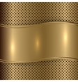 gold brushed metallic plaque background vector image vector image