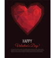 Greeting card Valentines Day in low poly style vector image vector image