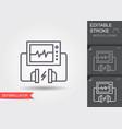 heart defibrillator linear medical symbols vector image vector image