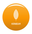 hornbeam leaf icon orange vector image vector image