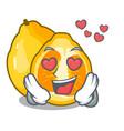 in love ugli fruit in the cartoon fridge vector image vector image