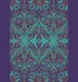 iridescent floral pattern with pomegranates vector image