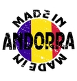label Made in Andorra vector image vector image