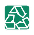label reduce recycle and reuse environment symbol vector image vector image