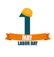labor day 1 may poster vector image