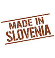made in slovenia stamp vector image vector image