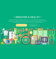 medicine and health design concept set vector image vector image