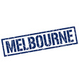 Melbourne blue square stamp vector image vector image