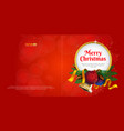 merry christmas greeting card or postcard with vector image