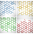 molecule background set vector image vector image