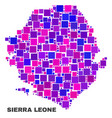 mosaic sierra leone map of square elements vector image vector image