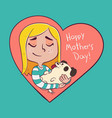 mother of a dog vector image vector image