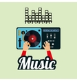 Music design dj icon White background vector image vector image