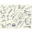 Office supplies Products for Artists Art supplies vector image vector image