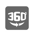 Panorama logo Full 360 degree rotation icon vector image vector image