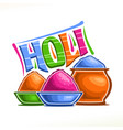 poster for indian holi festival vector image vector image