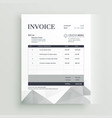 quotation invoice template design vector image vector image