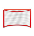 red hockey goal vector image vector image